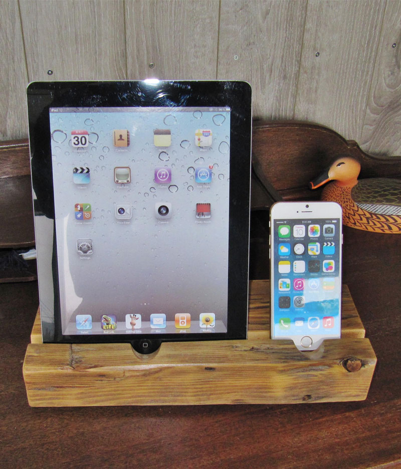 iPhone and iPad Stand iPad Dock Station Made from ...