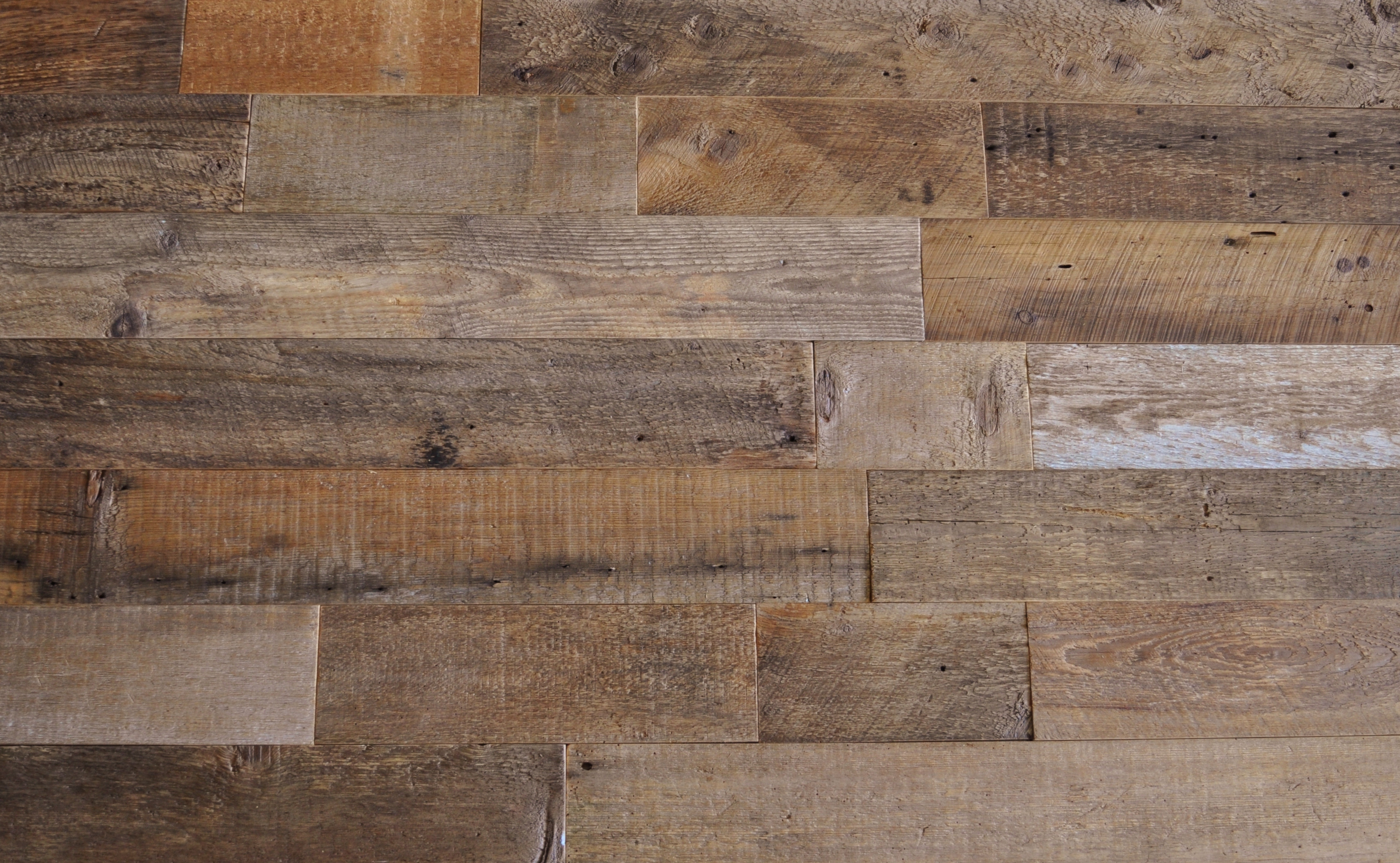 Diy reclaimed wood accent wall brown natural 5 5 inch wide for Recycled hardwood