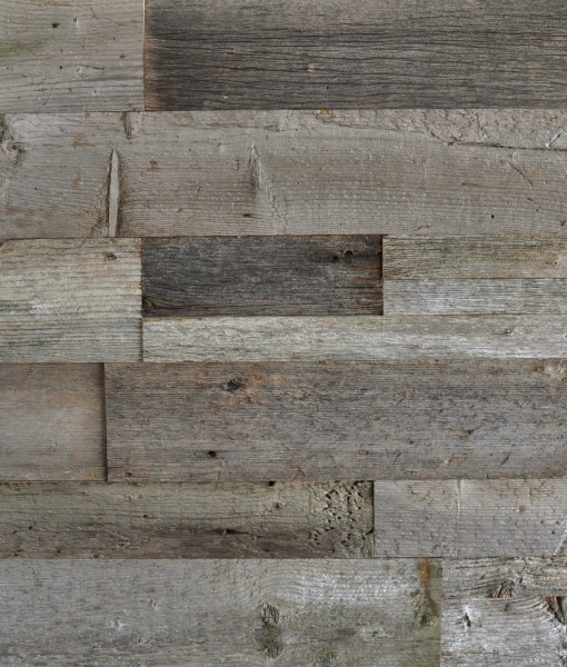 Diy Wood Plank Accent Wall: DIY Reclaimed Wood Accent Wall Grey Shades Mixed Widths
