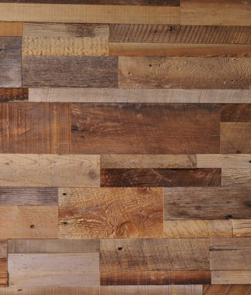 Diy Reclaimed Wood Accent Wall Brown Natural Mixed Width