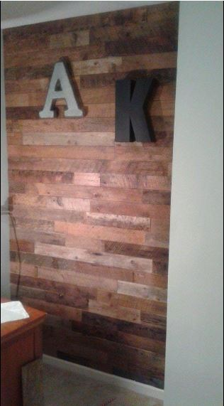 Diy Reclaimed Wood Accent Wall Brown Natural 3 5 Inch Wide