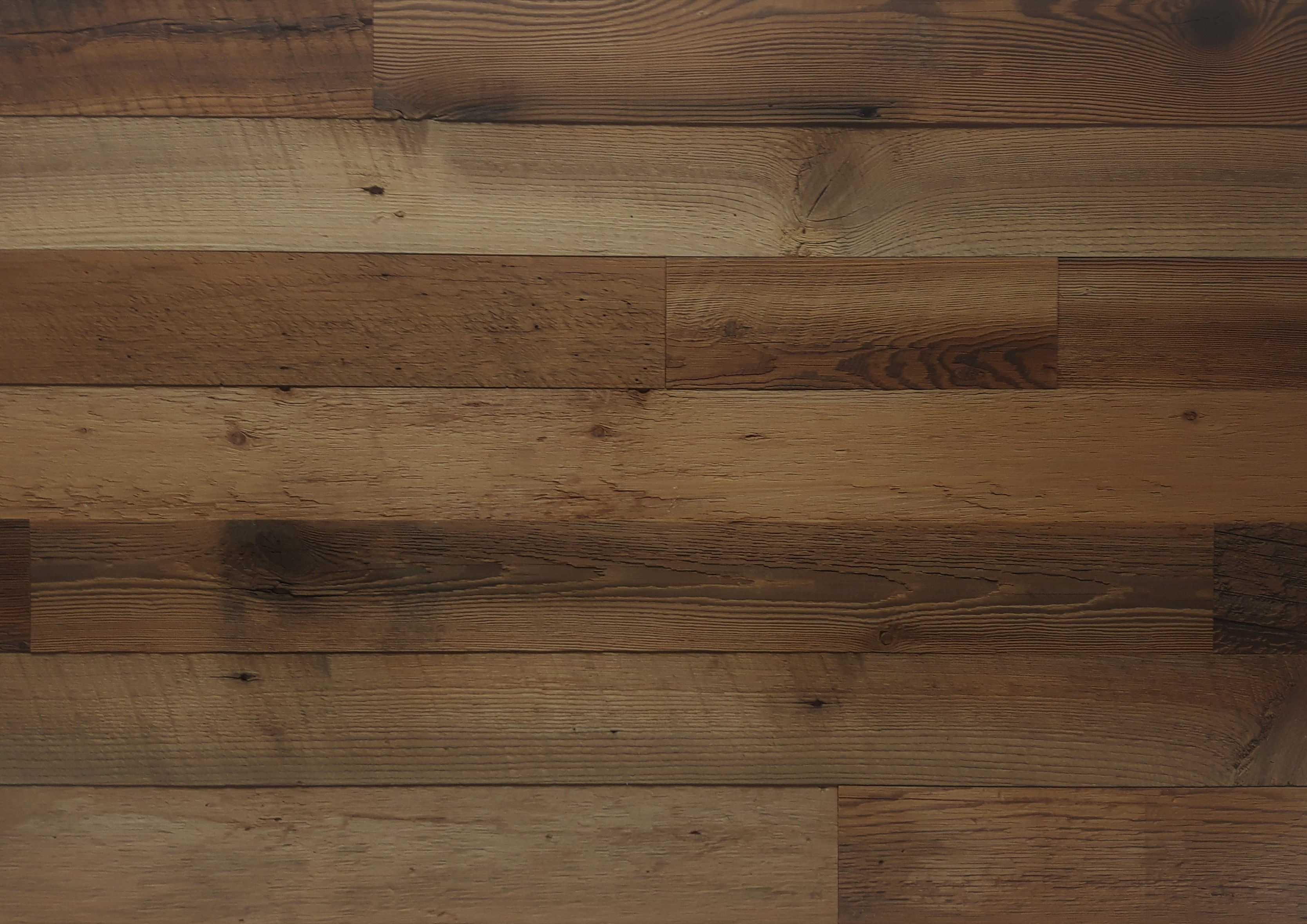 DIY Reclaimed Wood Accent Wall Brown Natural 3 5 Inch Wide - Priced Per  Square Foot