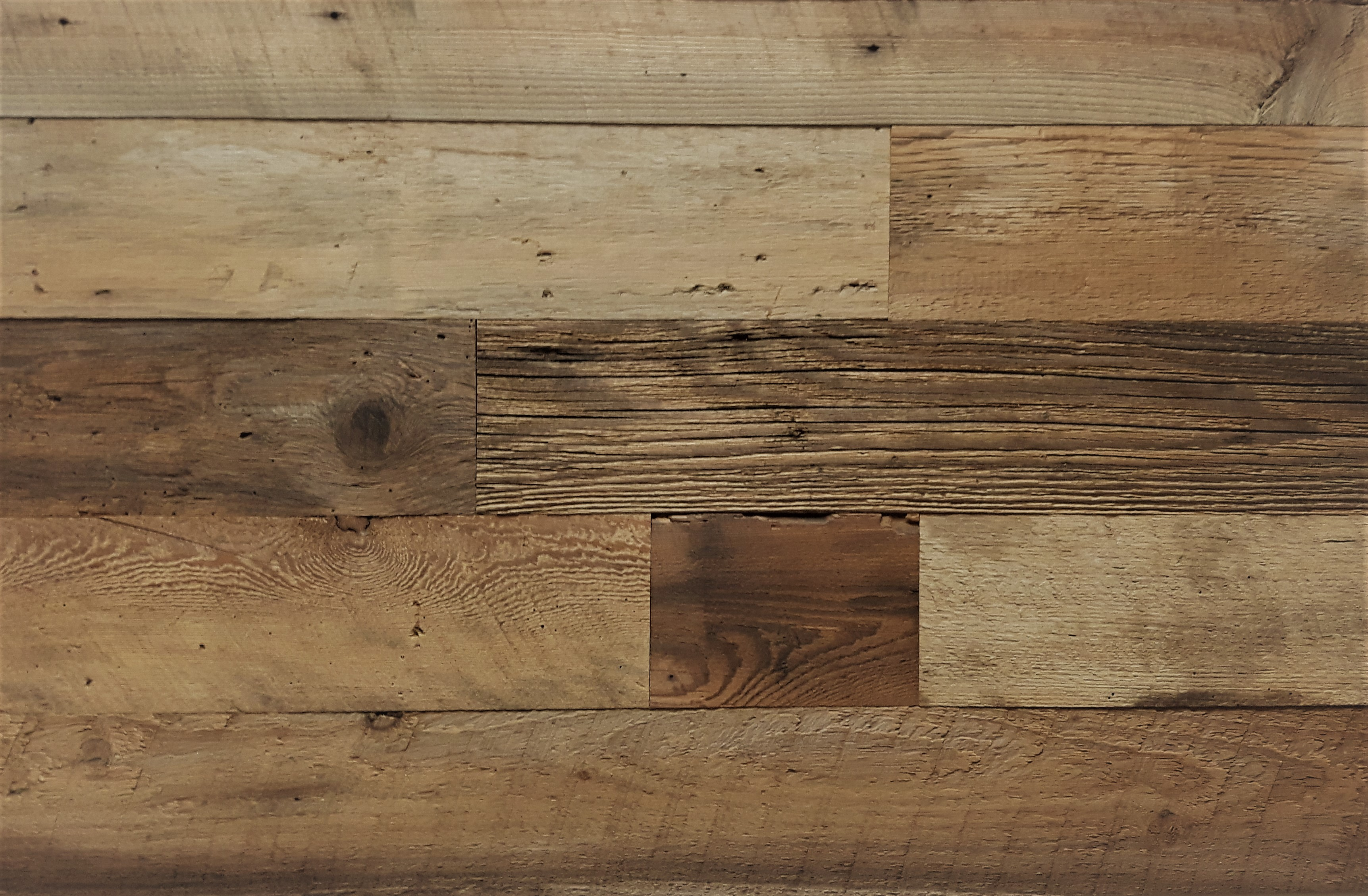 Diy Reclaimed Wood Accent Wall Brown Natural 5 Inch Wide Priced Per Square Foot