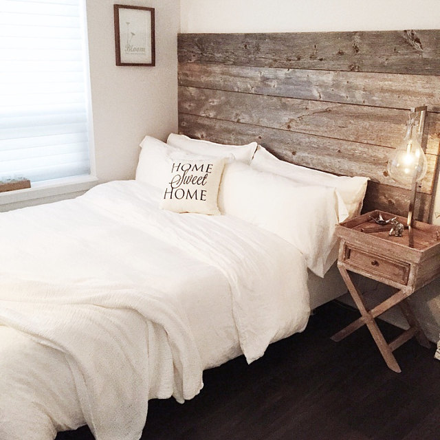 Reclaimed Wood Headboard Diy Installation Made From Real Barn Wood