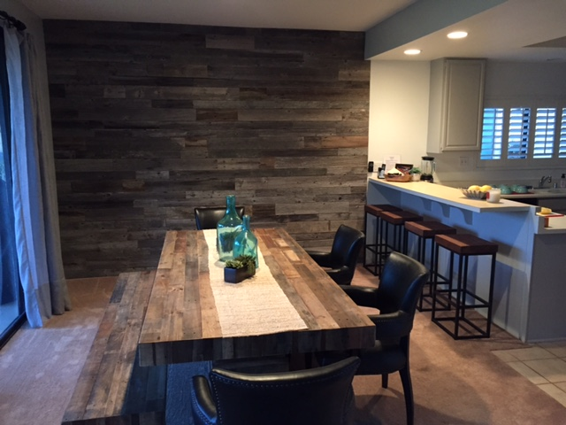 Diy Reclaimed Wood Accent Wall Grey Shades 3 5 Inch Wide