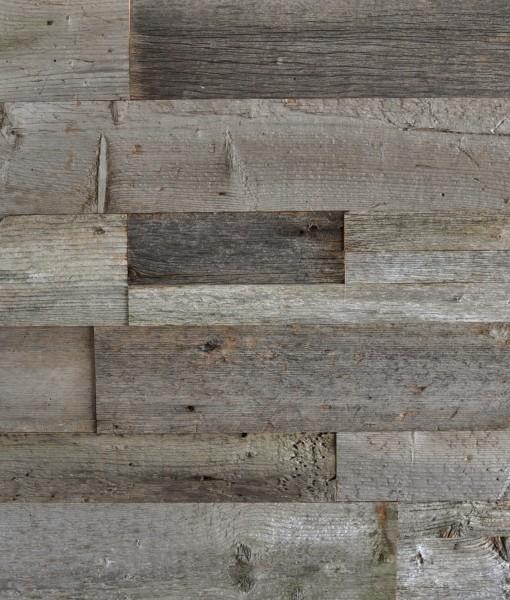 Grey Wood Accent Wall Bilder: DIY Reclaimed Wood Accent Wall Grey Shades Mixed Widths