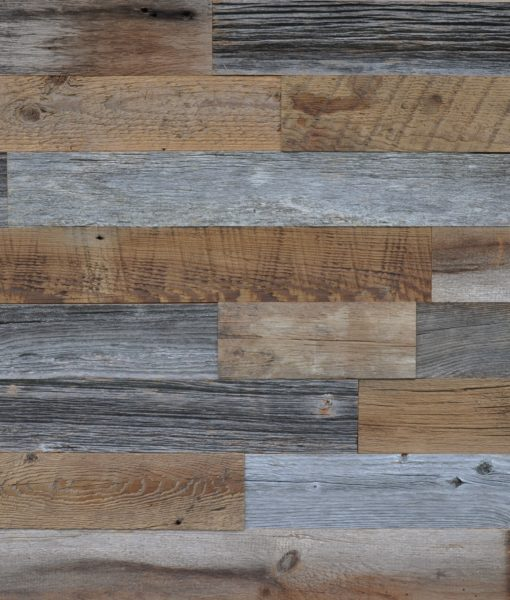 Grey and Brown Reclaimed Wood 3.5″ Wide